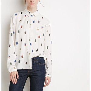 F21 Quirky big print blouse